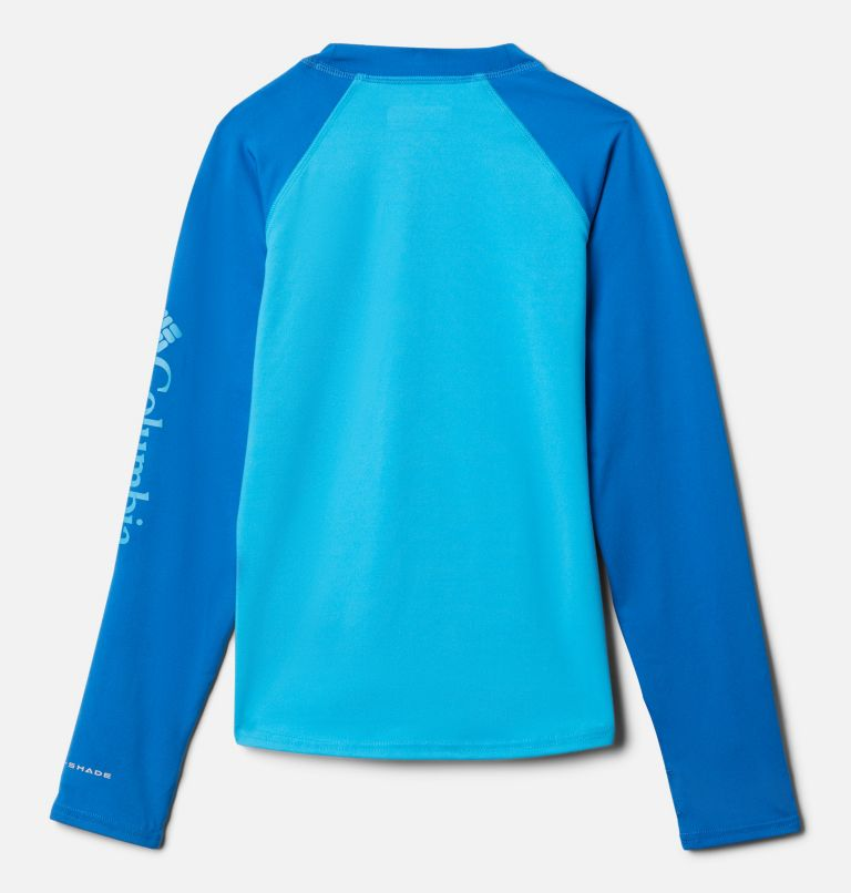 Sandy Shores™ Long Sleeve Sunguard | 417 | XS Kids' Sandy Shores™Long Sleeve Sunguard Shirt, Ocean Blue, Bright Indigo, back
