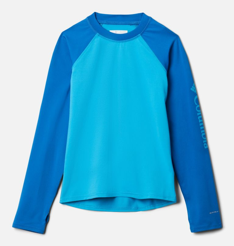 Sandy Shores™ Long Sleeve Sunguard | 417 | XS Kids' Sandy Shores™Long Sleeve Sunguard Shirt, Ocean Blue, Bright Indigo, front