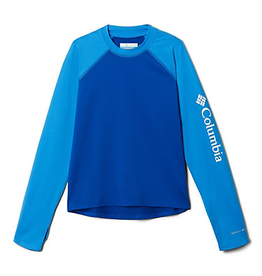 Sandy Shores™ langärmliges UV-Shirt Junior Sandy Shores™ Long Sleeve Sung | 627 | L, Azul, Azure Blue, front