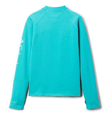 Kids' Sandy Shores™Long Sleeve Sunguard Shirt Sandy Shores™ Long Sleeve Sunguard | 454 | L, Bright Aqua, back