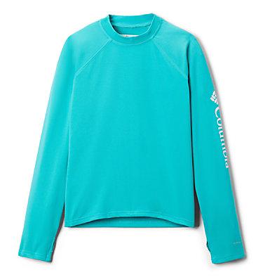 Kids' Sandy Shores™Long Sleeve Sunguard Shirt Sandy Shores™ Long Sleeve Sunguard | 454 | L, Bright Aqua, front
