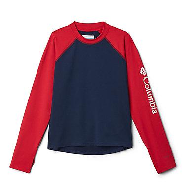 Kids' Sandy Shores™Long Sleeve Sunguard Shirt Sandy Shores™ Long Sleeve Sunguard | 454 | L, Collegiate Navy, Mountain Red, front