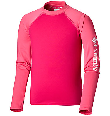 Sandy Shores™ langärmliges UV-Shirt Junior Sandy Shores™ Long Sleeve Sung | 627 | L, Haute Pink, Wild Geranium, front