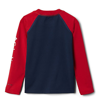 Kids' Toddler Sandy Shores™ Long Sleeve Sunguard Shirt Sandy Shores™ Long Sleeve Sunguard | 467 | 2T, Collegiate Navy, Mountain Red, back