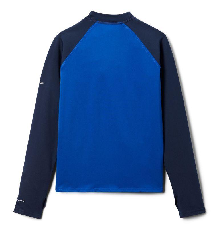 Sandy Shores™Printed LS Sunguard | 439 | S Kids' Sandy Shores™Printed Long Sleeve Sunguard Shirt, Azul, Coll Navy, Azul Tropical Graphic, back