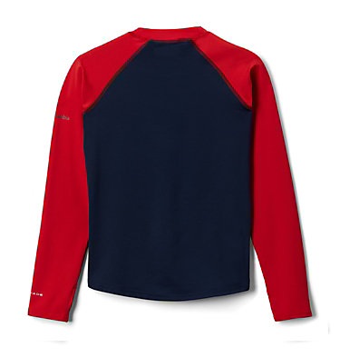 Kids' Sandy Shores™Printed Long Sleeve Sunguard Shirt Sandy Shores™Printed LS Sunguard | 467 | L, Coll Navy, Red Spark Outdoor Patriot, back