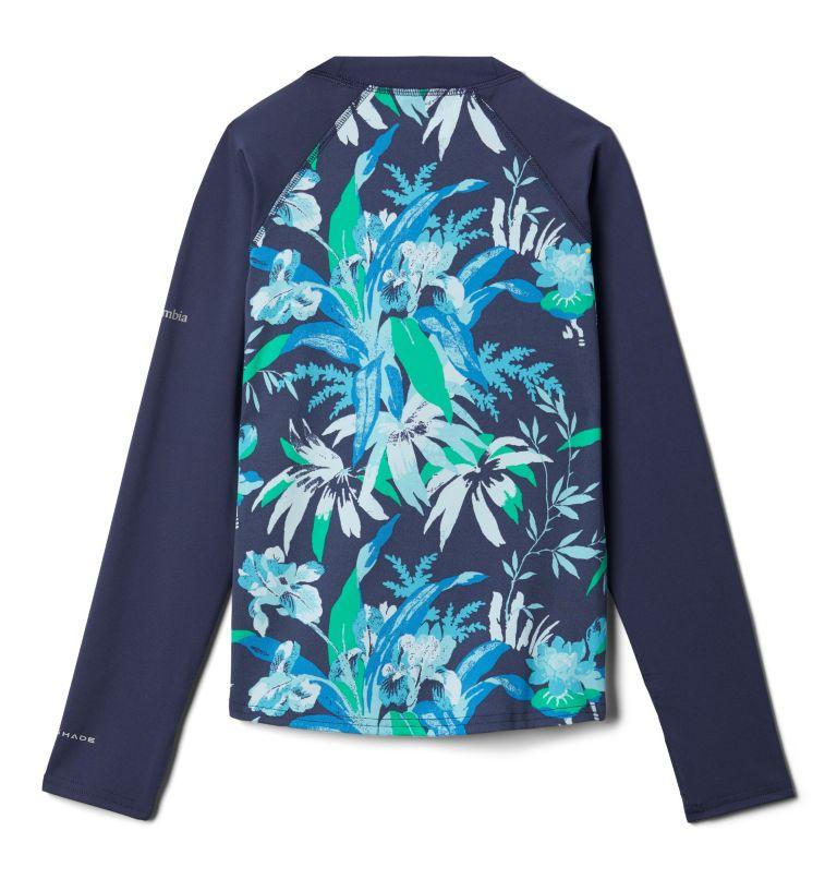 Sandy Shores™Printed LS Sunguard | 467 | XS Kids' Sandy Shores™Printed Long Sleeve Sunguard Shirt, Nocturnal Magnolia Floral, Nocturnal, back