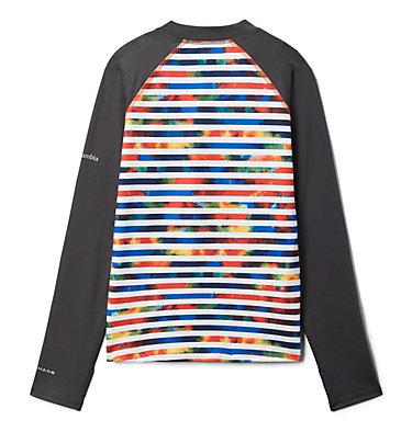 Kids' Sandy Shores™Printed Long Sleeve Sunguard Shirt Sandy Shores™Printed LS Sunguard   467   L, Wildfire Tie Dye Stripe, Shark, back