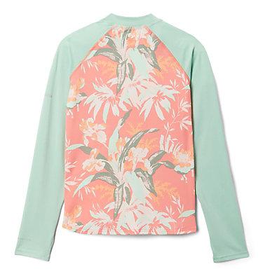 Kids' Sandy Shores™Printed Long Sleeve Sunguard Shirt Sandy Shores™Printed LS Sunguard | 467 | L, Melonade Magnolia Floral, New Mint, back