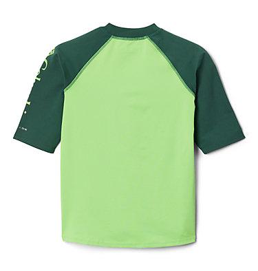 Kids' Sandy Shores™Short Sleeve Sunguard Shirt Sandy Shores™Short Sleeve Sunguard | 580 | L, Green Mamba, Rain Forest, back