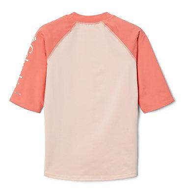 Kids' Sandy Shores™Short Sleeve Sunguard Shirt Sandy Shores™Short Sleeve Sunguard | 580 | L, Peach Cloud, Melonade, back