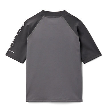 Kids' Toddler Sandy Shores™ Short Sleeve Sunguard Shirt Sandy Shores™Short Sleeve Sunguard | 580 | 2T, City Grey, Shark, back