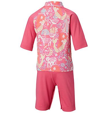 Toddler Sandy Shores™ Sunguard Suit Sandy Shores™Sunguard Suit | 378 | 2T, Wild Geranium Jungle, back