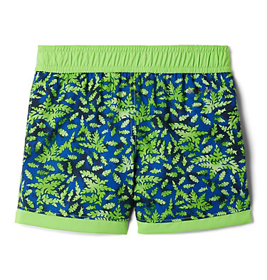 Boys' Toddler Sandy Shores™ Board Shorts Sandy Shores™Boardshort | 614 | 2T, Green Mamba Leafy Predators, Green Mamba, back