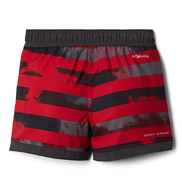 Boys' Toddler Sandy Shores™ Board Shorts Sandy Shores™Boardshort | 614 | 2T, Mtn Red Tie Dye Stripe, Shark, back