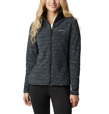 Women's Fast Trek™ Light Printed Fleece Jacket Fast Trek™ Light Printed Full  | 466 | L, Black Spacedye, front