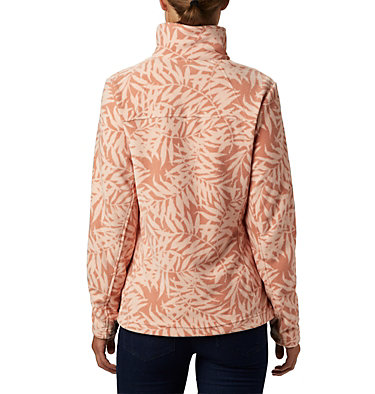 Women's Fast Trek™ Light Printed Fleece Jacket Fast Trek™ Light Printed Full  | 466 | L, Cedar Blush Print Bamboo, back