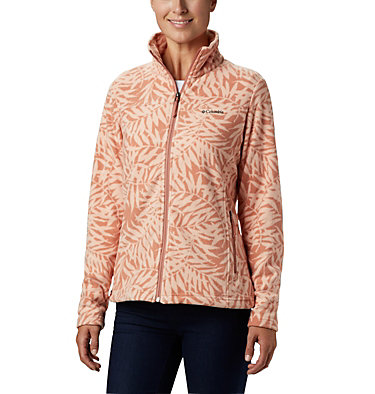 Women's Fast Trek™ Light Printed Fleece Jacket Fast Trek™ Light Printed Full  | 466 | L, Cedar Blush Print Bamboo, front