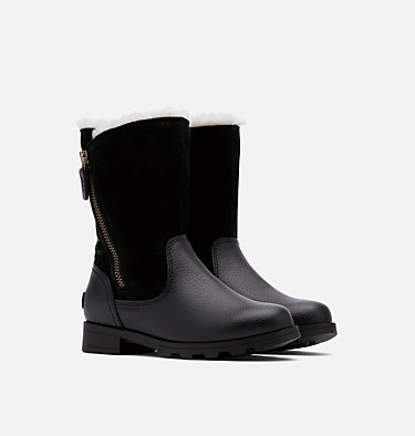 Youth Emelie™ Fold-Over Boot YOUTH EMELIE™ FOLD-OVER | 010 | 1, Black, Black, 3/4 front