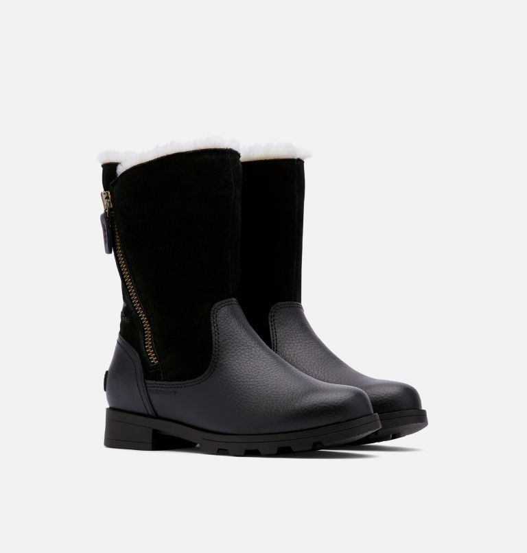 YOUTH EMELIE™ FOLD-OVER | 010 | 1 Bota plegable Emelie™ para niños, Black, Black, 3/4 front