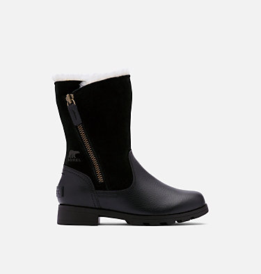 Youth Emelie™ Fold-Over Boot YOUTH EMELIE™ FOLD-OVER | 010 | 1, Black, Black, front