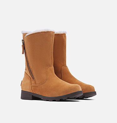 Youth Emelie™ Fold-Over Boot YOUTH EMELIE™ FOLD-OVER | 010 | 1, Camel Brown, Natural, 3/4 front