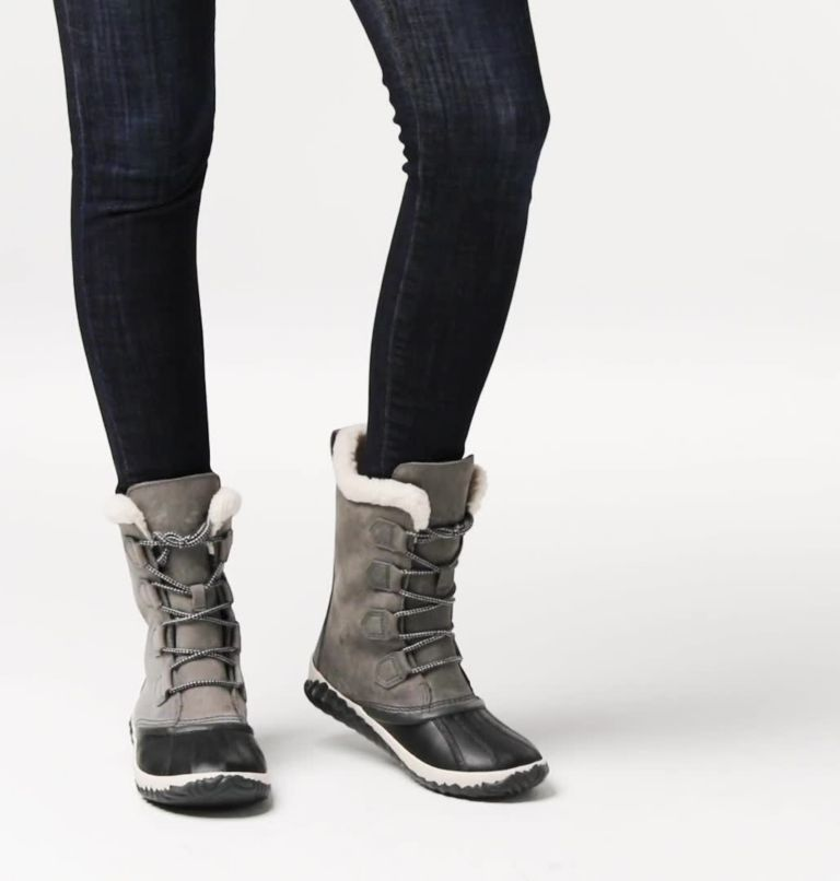 OUT N ABOUT™ PLUS TALL | 053 | 5.5 Womens Out N About™ Plus Tall Duck Boot, Quarry, Coal, video