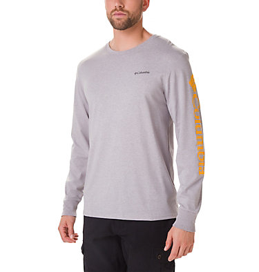 Men's North Cascades™ Long Sleeve Tee Shirt North Cascades™ Long Sleeve Te | 100 | L, Columbia Grey Heather, Stinger, front