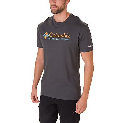 Men's North Cascades™ Tee Shirt North Cascades™ Short Sleeve Tee | 386 | S, Shark, Golden Yellow, front