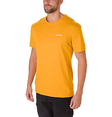 T-shirt North Cascades™ Homme North Cascades™ Short Sleeve Tee | 386 | S, Golden Yellow, Black Cherry, front