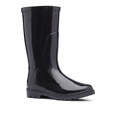 Big Kids' Downpour™ Rain Boot Y DOWNPOUR™ | 541 | 6, Black,Columbia Grey, 3/4 front