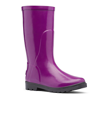 Big Kids' Downpour™ Rain Boot Y DOWNPOUR™ | 541 | 6, Plum, Black, 3/4 front
