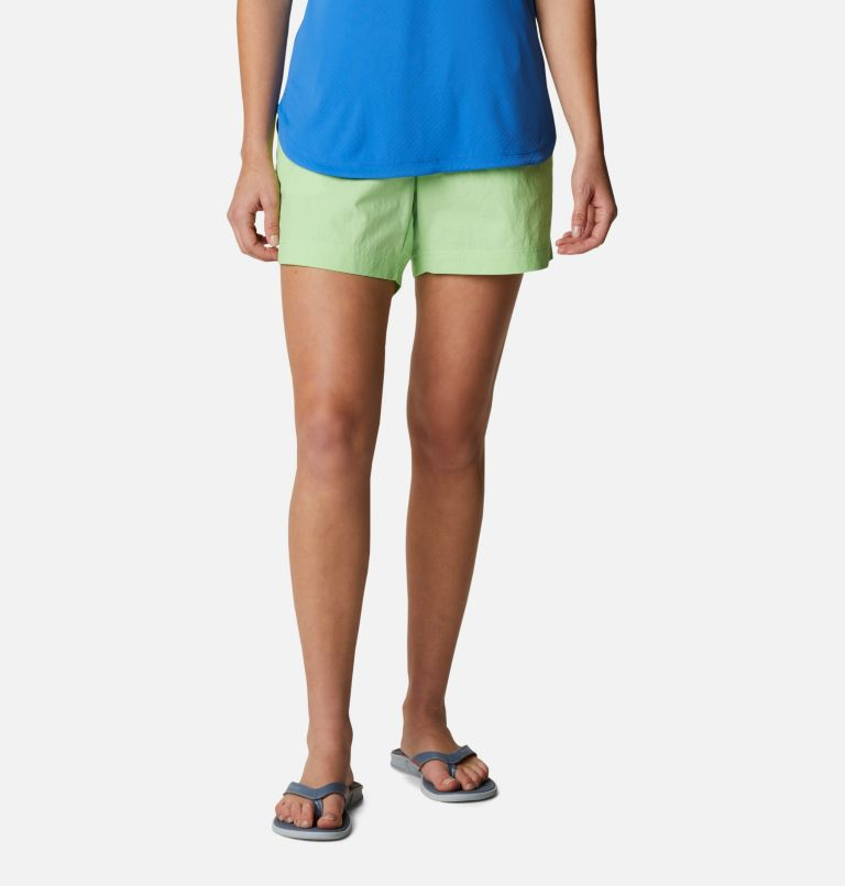 W Backcast™ Water Short | 398 | XS Women's PFG Backcast™ Water Shorts, Lime Glow, front