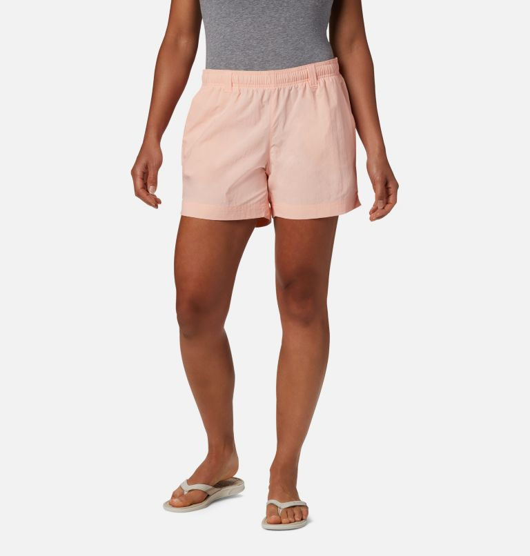 W Backcast™ Water Short | 807 | S Women's PFG Backcast™ Water Shorts, Tiki Pink, front