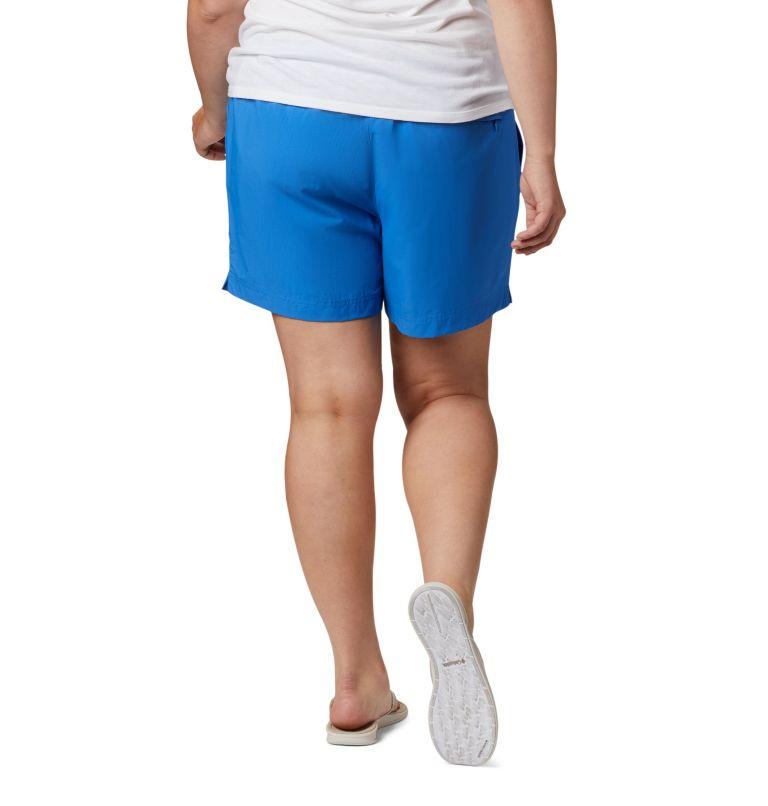 W Backcast™ Water Short   426   2X Women's PFG Backcast™ Water Shorts - Plus Size, Stormy Blue, back