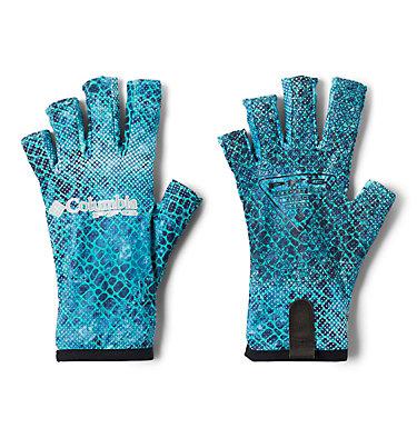 PFG Terminal Tackle™ Fishing Gloves Terminal Tackle™ Fishing Glove | 488 | L/XL, Bright Aqua Real Tree Mako Camo, front