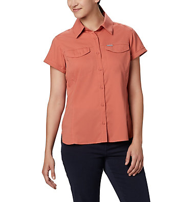 Women's Silver Ridge™ Lite Short Sleeve Shirt Silver Ridge™ Lite Short Sleeve | 010 | L, Dark Coral, front