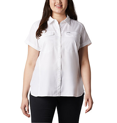 Women's Silver Ridge™ Lite Short Sleeve - Plus Size Silver Ridge™ Lite Short Sleeve | 490 | 1X, White, front