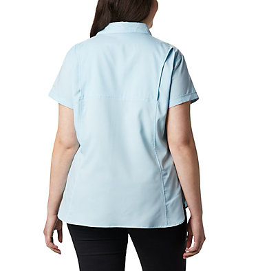 Women's Silver Ridge™ Lite Short Sleeve - Plus Size Silver Ridge™ Lite Short Sleeve | 490 | 1X, Spring Blue, back