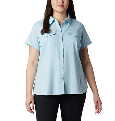 Women's Silver Ridge™ Lite Short Sleeve - Plus Size Silver Ridge™ Lite Short Sleeve | 490 | 1X, Spring Blue, front