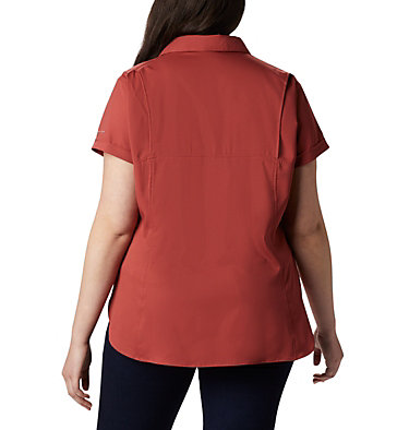 Women's Silver Ridge™ Lite Short Sleeve - Plus Size Silver Ridge™ Lite Short Sleeve | 490 | 1X, Dusty Crimson, back
