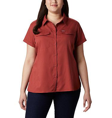 Women's Silver Ridge™ Lite Short Sleeve - Plus Size Silver Ridge™ Lite Short Sleeve | 490 | 1X, Dusty Crimson, front