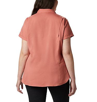 Women's Silver Ridge™ Lite Short Sleeve - Plus Size Silver Ridge™ Lite Short Sleeve | 490 | 1X, Dark Coral, back
