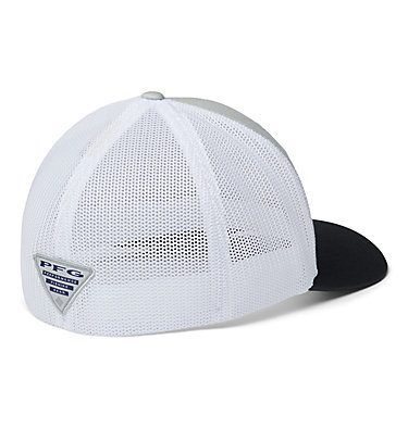 PFG Mesh Fish Flag Ball Cap PFG Mesh™ Fish Flag Ball Cap | 469 | L/XL, Cool Grey, White, Black, US Flag, back
