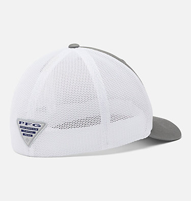 PFG Mesh Fish Flag Ball Cap PFG Mesh™ Fish Flag Ball Cap | 469 | L/XL, Titanium, White, back