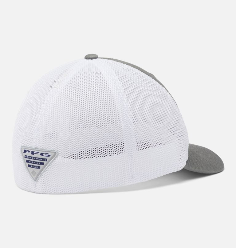 PFG Mesh™ Fish Flag Ball Cap | 049 | L/XL PFG Mesh Fish Flag Ball Cap, Titanium, White, back