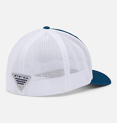 PFG Mesh Fish Flag Ball Cap PFG Mesh™ Fish Flag Ball Cap | 469 | L/XL, Aegean Blue, White, US Fish Flag, back