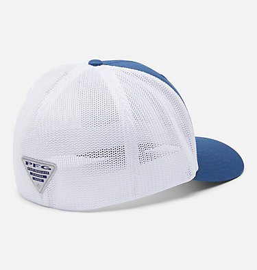 PFG Mesh Fish Flag Ball Cap PFG Mesh™ Fish Flag Ball Cap | 469 | L/XL, Night Tide, White, back