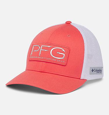 PFG Mesh™ Hooks Ball Cap PFG Mesh™ Hooks Ball Cap | 499 | L/XL, Salmon, Silver, front