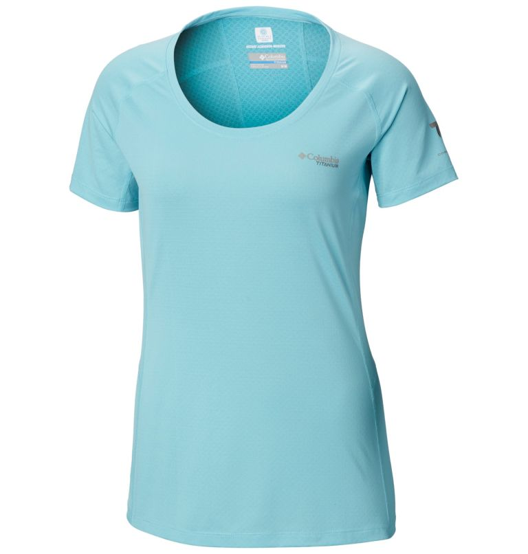 Titan Trail™ Lite Short Sleeve | 459 | S Women's Titan Trail™ Lite Short Sleeve Shirt, Clear Blue, front